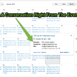 Google Calendar Conversations Suggestion